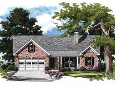 Refreshingly Refined Ranch (HWBDO08449) | Country House Plan from BuilderHousePlans.com