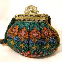 Vintage Purse Handbag Bag Bright Geometric