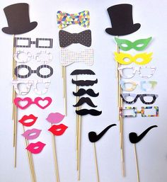 Photo Booth Props for Wedding Party Photography