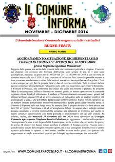 Il Comune Informa Novembre - Dicembre 2016