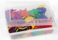 Lacing hands in plastic box with lid Transparent Box, Box With Lid, Addition And Subtraction, Fine Motor Skills, Plastic Cutting Board, Toy Chest, Hands, Black And White, Storage