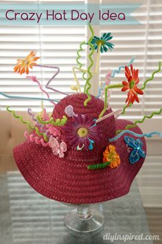 Crazy Hat Day Idea or just a fun kids activity to do this spring!