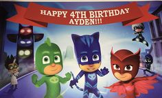 PJ MASKS HIGH RESOLUTION GICLEE PRINT POSTER  Printed on premium gloss photo paper. We use the best materials and equipment available to ensure quality and durability.  This is a Brand New Single Sided Poster  We also offer customized Posters. After your purchase please email us with your text, we will send you a proof for your approval and will print.  We accept PayPal  The most secure way to pay  Ships Within 1 Business Day.  Poster will be rolled for shipping not folded.  All of our…