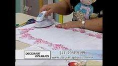Caminho de mesa florido por Márcia Caires | Cantinho do Video