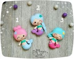 Cute mermaid ornaments Mermaid nursery decorations by MyMagicFelt