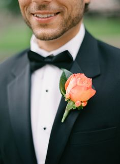 #Boutonnieres | Pretty Rich Peach Color |
