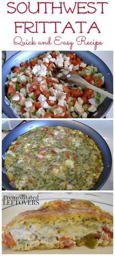 Southwest Frittata with Chicken Recipe - A fast and easy dish that works well for any meal of the day.