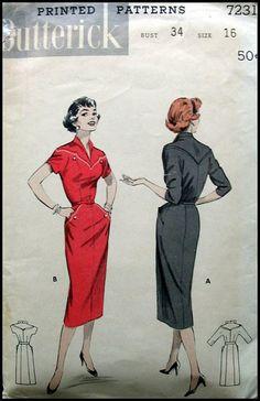 1950's Sexy Rockabiily Wiggle Dress Pattern   Flickr - Photo Sharing!