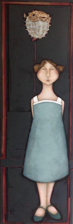 le poisson lune -- by Magalie Bucher Blue Horse, Felt Art, Magazine Art, Painting & Drawing, Character Inspiration, Illustrators, Cool Art, Street Art, Art Gallery