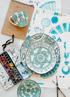 Great interview on @anthropologie's blog with design director Bernice K. about her process. #artist #design #dinnerware