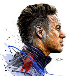 My painting of the famous Neymar Jr and his arrival in the PSG.