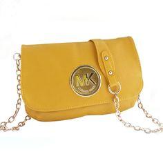 MICHAELKORS.COM - Michael Kors Fulton Messenger Medium Yellow Crossbody - leather - $64.99 (sale)