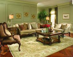 elegantes Wohnzimmer-viktorianische Inneneinrichtung