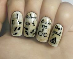 Easy Harry Potter Nails ⎮ Freehand Nail Art Tutorial