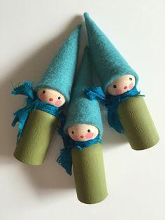 felt peg doll gnomes handmade Waldorf inspired pocket