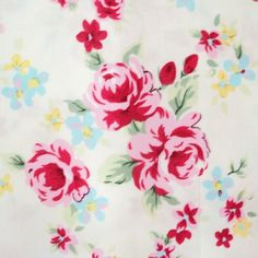 Sweetie Ivory Vintage Floral 100 Fine Cotton Fabric   eBay