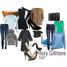 Rory Gilmore 7x21 by bombstheybuilt on Polyvore featuring Proenza Schouler, Rich & Royal, St. John's Bay, Monki, VILA, J Brand, Wolford, SJP, Converse and Red Circle