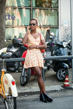fashion | street style | spring summer | floral dress | inspiration | black women stylin'