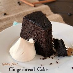 Gluten Free Gingerbread Cake with Chocolate and Coffee (minus the xanthum gum this is fantastic!)