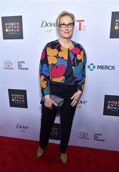 Meryl Streep attends the Women in the World Summit in New York on April 22, 2015.