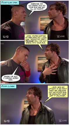Dean Ambrose And John Cena Funnies And Another Excuse For Staring At Dean