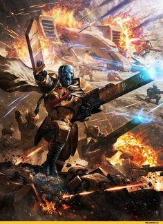 ameeeeba,Fire warrior,Tau Empire,Tau, Тау,Warhammer 40000,warhammer40000, warhammer40k, warhammer 40k, ваха, сорокотысячник,фэндомы,Gun Drone: