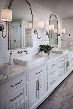Cool 125 Best Farmhouse Bathroom Vanity Remodel Ideas