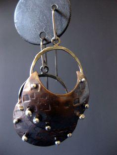 Copper Bali Hoops by JLMerrillMetals on Etsy, $55.00