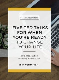 5 TED Talks to Watch When You're Ready to Change Your Life With over TED Talks, it can be hard to know which to pick. These 5 TED Talks are what we recommend watching when you're ready to change your life. Self Development, Personal Development, Leadership Development, Coaching Personal, Life Coaching, Personal Trainer, Infp, Best Self, Self Improvement