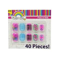 10 piece Faux Nails Party Favors, 4 pack - Walmart.com - Walmart.com Fake Nails For Kids, Period Kit, Party Nails, Kids Room Wallpaper, Birthday Wishlist, Square Nails, Beauty Ideas, Nail Ideas, Mobile App