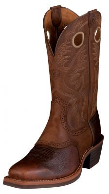 Mens Ariat Heritage Roughstock Boots Brown Oiled Rowdy
