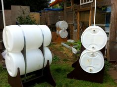 Self-Hydrating, Soil-Wicking Garden Beds using float valves and 55-gallon drums.