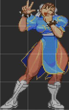 Chun Li - Street Fighter Perler Sprite Pattern Template by D1A13LO on DeviantArt