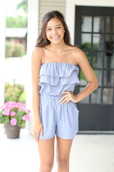 Nothing Else Romper - Chambray