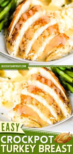 Now you can have tender, juicy turkey breast with gravy in the crock pot! Not only does this easy main dish free up oven space, but it also has so much flavor. What's not to love about slow cooker Thanksgiving dinner recipes? Frozen Turkey, Best Crockpot Recipes, Thanksgiving Dinner Recipes, Breast Recipe, Cooking Turkey, Turkey Breast, Family Meals, Stuffed Peppers, Crock Pot