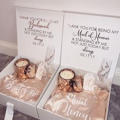 Beautiful Hampers by @hampersbymarina 💕 | All hampers are completely customisable! #brides_style #hampersbymarina #bridesmaids…