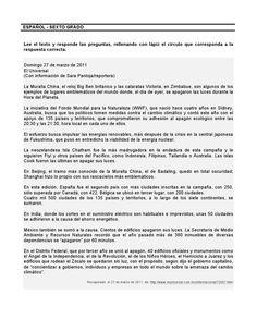 o FORTALECIMIENTO DE LA COMPRENSIÓN LECTORA G rado de primaria Cuadernillo de actividades