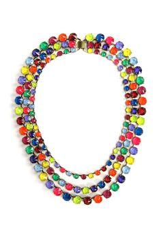 Erickson Beamon's vermeil and hand-painted Swarovski crystal necklace. [Courtesy Photo]