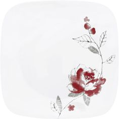 Corelle Square 6-Piece Dinner Plate, Blushing Rose