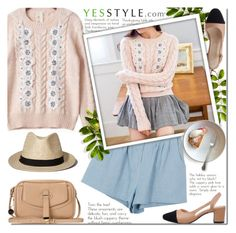 """""""Soft spring - Korean fashion with YesStyle"""" by purpleagony ❤ liked on Polyvore featuring Isadora, ANS, Abercrombie & Fitch, Spring, korean, koreanfashion and yesstyle"""