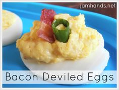 Bacon & Cheese Deviled Eggs at Jam Hands