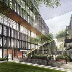 In Guadalajara, Mexico, the Bio-Esfera office complex will help transform an underutilized area where a dormant Kodak manufacturing facility once stood. A central courtyard connects the complex to the surrounding urban fabric while evoking the public plazas seen throughout Guadalajara. On the buildings' facades, precast concrete fins filter light into the interior office space and reduce solar glare and heat gain. Part of the larger Distrito La Perla Master Plan, Bio-Esfera is scheduled to…