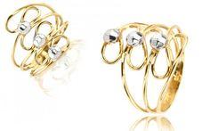 Zlatý dámsky prsteň dvojfarebný Bracelets, Gold, Jewelry, Jewlery, Jewerly, Schmuck, Jewels, Jewelery, Bracelet