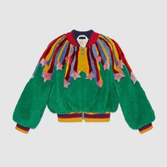 Gucci Children's faux fur bomber with stars