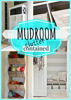 How to Contain Mudroom Clutter . Oh yes. #spon
