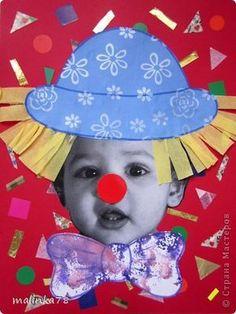 Вот таких клоунов и клоунес мы сделали из наших милых малюток. На этой неделе планируется выезд детей в цирк и на эту тему были сделаны наши работы. Делать их просто, а выглядит работа интересно! фото 1 Circus Theme Crafts, Circus Activities, Clown Crafts, Carnival Crafts, Circus Art, Carnival Themes, Toddler Crafts, Preschool Crafts, Crafts For Kids