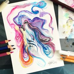 Design Stack: Fantasy Watercolor Paintings and Colored Pencils Drawings Check it out! :D