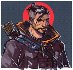 "infested-frame: "" peachgloomy: "" i saw hanzo in the new comic and had to draw him IMMEDIATELY!!! (undercut hanzo gives me life…) "" @mccrees-undertaker """
