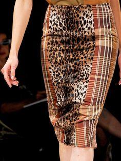 Leopard & Tartan Prints Mix Trend for Spring Summer 2013 Fashion.  MaxMaraSpring Summer 2013 #Fashion #Trend #Trends