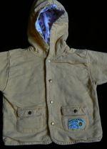 sehr süße Kapuzen-Langarm-Jacke Größe 74/80